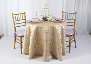 Eclectic Art Deco Jacquard Tablecloth Linen