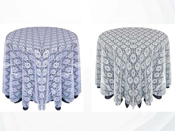 Sheer Lace Tablecloth Overlay