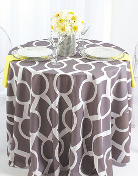 Liberty Key Geometric Print Polyester Tablecloth Linen
