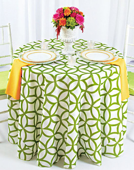 Retro Cirque Geometric Print Polyester Tablecloth Linen