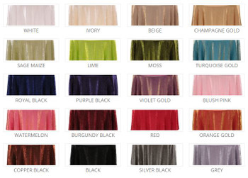 5 ft Wide Shimmer Crush Polyester Fabric Drapes