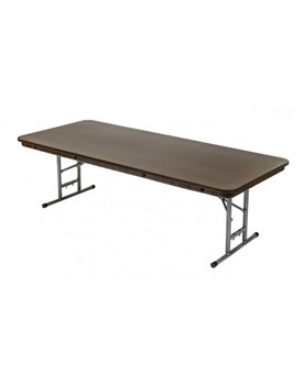 """Children's Resin 30""""W x 72""""L (6ft) Brown Rhino Series Banquet Folding Table"""