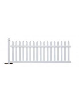 Rhino Portable Vinyl Picket Fence Kit-White (10 feet sections)