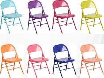 Hercules Colorburst Series Triple Braced U0026 Double Hinged Metal Folding Chair