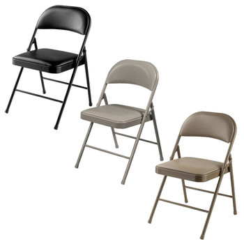 Commercialine Vinyl Padded Folding Chair By National Public Seating