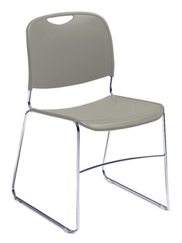 8500 Series High-Tech Ultra Compact Plastic Stacking Chair By National Public Seating-Gunmetal Gray