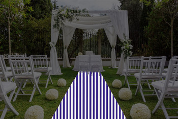 """30""""W Awning Print Polyester Aisle Runner"""