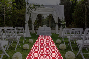 "30""W My Party Geometric Print Polyester Aisle Runner"
