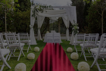 "30""W Satin Stripe  Aisle Runner"