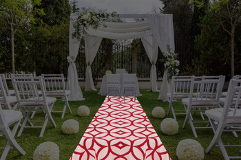 "30""W Retro Cirque  Aisle Runner"