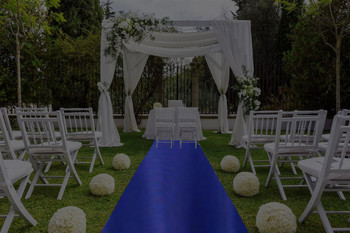 "30""W Poly Satin  Aisle Runner"