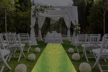 "30""W Krinkle Crush Aisle Runner"