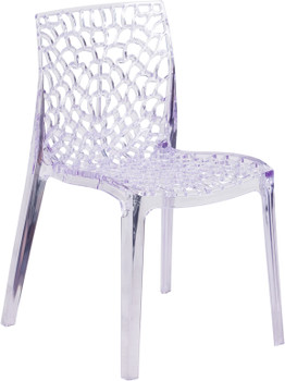 Spiderweb Vision Transparent Stacking Side Chair