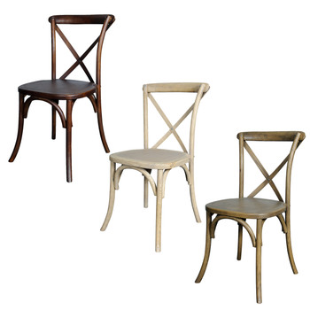 Lucca Cross Back Stack Chair