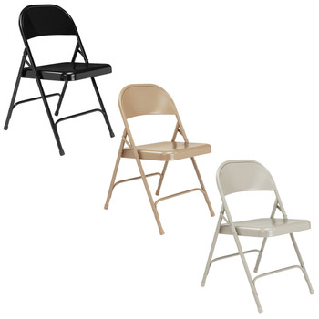 Body Builder Steel Folding Chair By National Public Seating, 50 Series