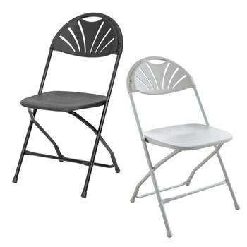Rhino Fan Back Plastic Folding Chair
