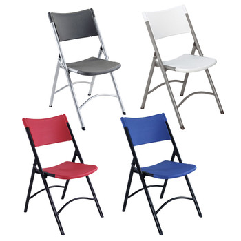 Body Builder Blow Molded Plastic Folding Chair By National Public Seating, 600 Series