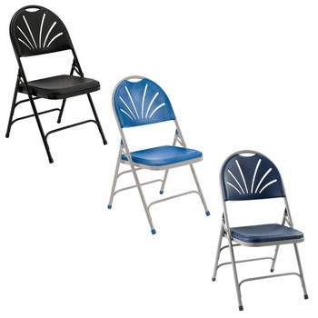 Body Builder Fan Back Folding Chair By National Public Seating, 1100 Series