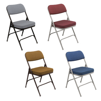 """Premium 2"""" Thick Fabric Padded Folding Chair By National Public Seating, 3200 Series"""