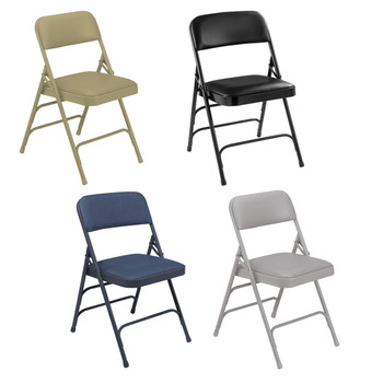 Body Builder Vinyl Padded Folding Chair By National Public Seating, 1300 Series