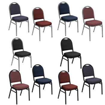 Dome Top Fabric Padded Stacking Chair By National Public Seating, 9200 Series