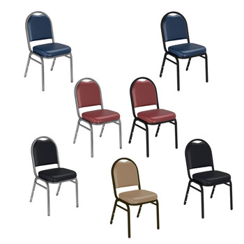 Dome Top Vinyl Padded Stacking Chair By National Public Seating, 9200 Series