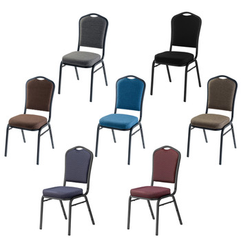 Deluxe Crown Back Fabric Padded Stack Chair With Sandtex Frame by National Public Seating, 9300 Series