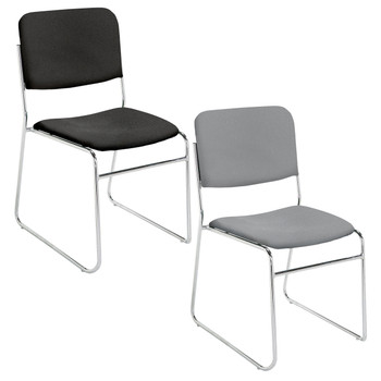 Signature Lightweight Upholstered Padded Stack Chair By National Public Seating, 8600 Series