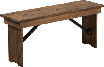 "40"" x 12"" Hercules Antique Rustic Solid Pine Folding Farm Bench"