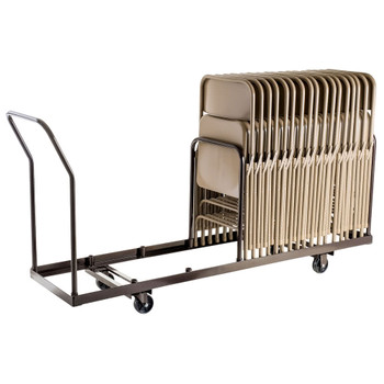 Linear Storage and Transport Folding Chair Dolly By National Public Seating, Model DY-35