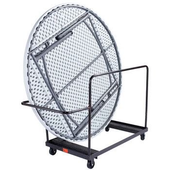 "10-Capacity Storage and Transport Dolly for 72"" Round Folding Tables"
