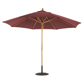 Galtech 11-ft. Wood Umbrella With Brass Trim 4 Pulley Lift, Model 183 (GA183)