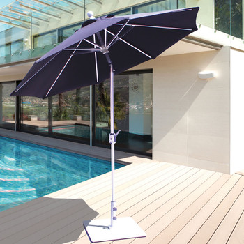 Galtech 7.5-ft. Aluminum Umbrella With Autotilt Crank Lift, Model 727 (GA727)