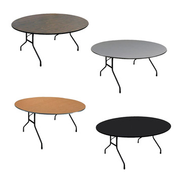 Correll Round Melamine Laminate Top Folding Table