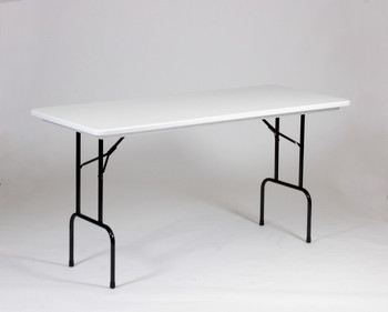 "Correll 30""W x 72""L (6 ft) Counter Height (36"") Blow Molded Plastic Folding Table (CL-RS3072-23)"