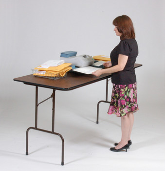"""Correll 30""""W x 72""""L (6 ft) Counter Height (36""""H) 3/4"""" Top High-Pressure Laminate Folding Table (CL-CFS3072PX-01)"""