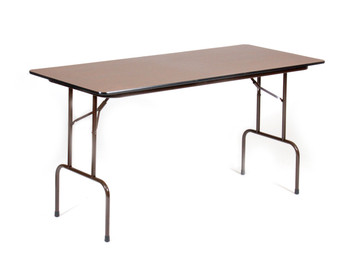 "Correll 30""W x 72""L (6 ft) Counter Height (36""H)  3/4"" Top High-Pressure Laminate Folding Table"
