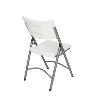 Classic Series White Granite Blow Molded Plastic Folding Chair