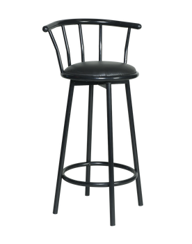 2PK. Black Premier Series Swivel Metal Barstool