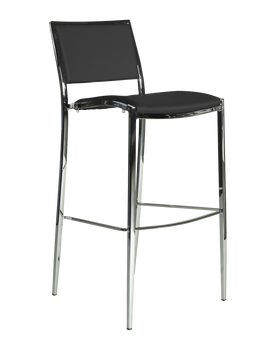 Premier Series Black Bella Steel Barstool