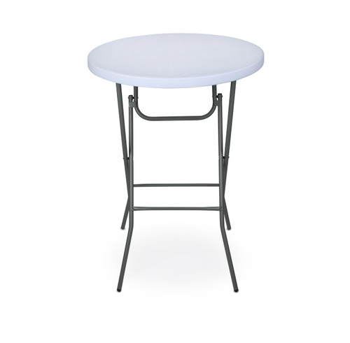 "Classic Series 32"" Round Plastic Folding HIGH Top Cocktail Table, 42"" Bar Height, Folding Steel Frame - Sale"