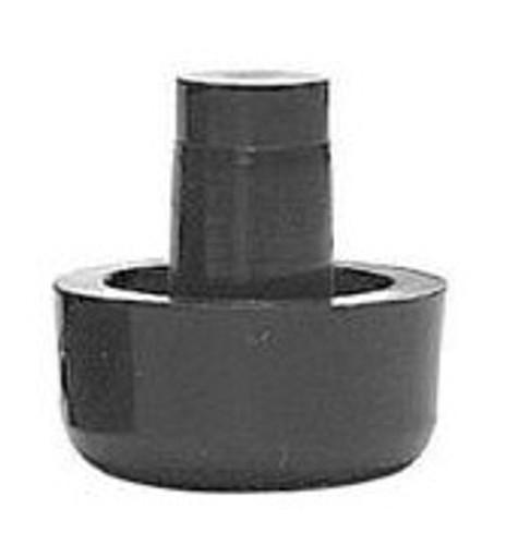 "100 pk. Black Nylon Stack Chair Bumper, 3/4"" dia. Base, 5/16"" dia. Stem -"