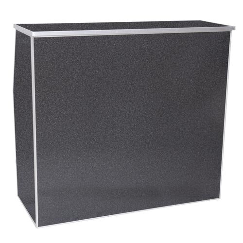 "Premier Series Portable Folding Bar - 48"" Wide - Black Marble Laminate - Free Shipping"