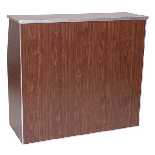 "Premier Series Portable Folding Bar - 48"" Wide - Walnut Laminate - Free Shipping"