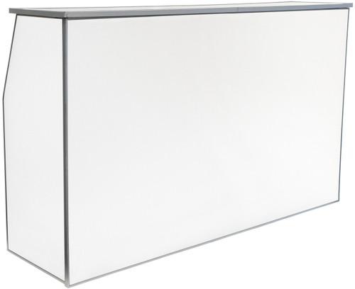 "Premier Series Portable Folding Bar with Storage Bag - 72"" Wide - White Laminate - Free Shipping"