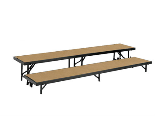 Multi-Level Portable Stage Straight Riser With Hardboard Surface By National Public Seating - 2 Sizes - 10Warranty