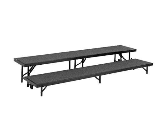 Multi-Level Portable Stage Straight Riser With Carpeted Surface By National Public Seating - 4 Sizes - 4 Colors - 10Warranty