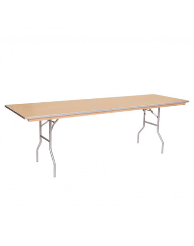 "Premier Series 18""W x 96""L (8FT) Russian Birch Plywood Seminar Folding Table with Metal Edge - Sale"