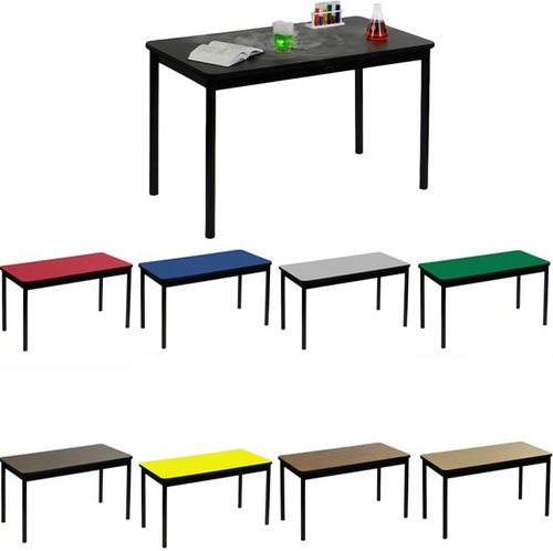 "Correll Lab Tables with High Pressure Laminate Tops 36"" Height-USA Made - USA - 7 Sizes - 8 Colors"