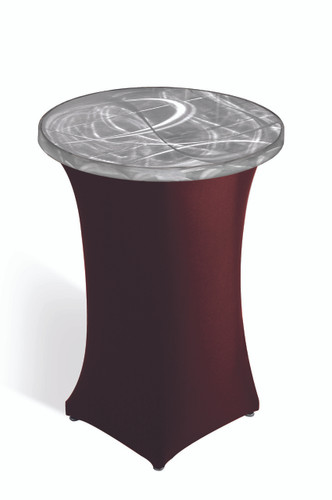 Round Pedestal Cocktail Spandex Skirting for Aluminum Tables - 17 Colors